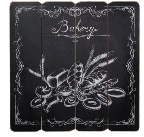 Placa Decorativa MDF Bakery 40 x 40 cm