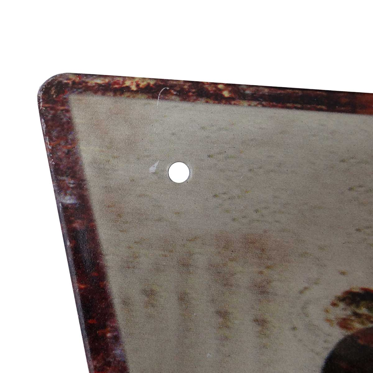 Placa Decorativa Metal Formato Seta Good Beer 14 x 40 cm