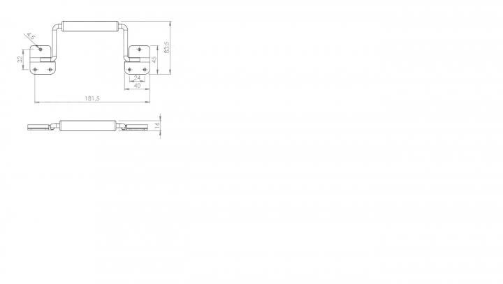 Alça A2 Retrátil com Manopla MA0003
