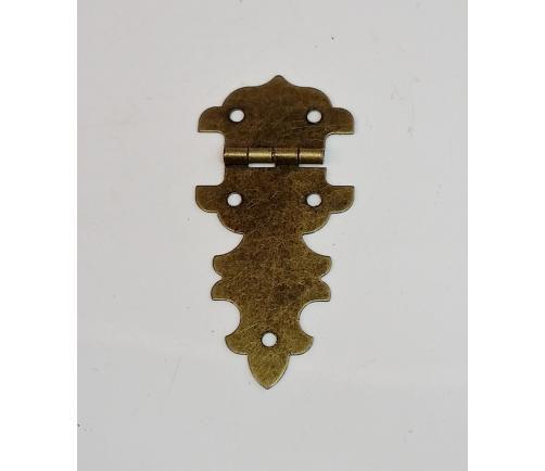 Dobradiça Colonial 28 x 58mm Ouro Velho MA0076