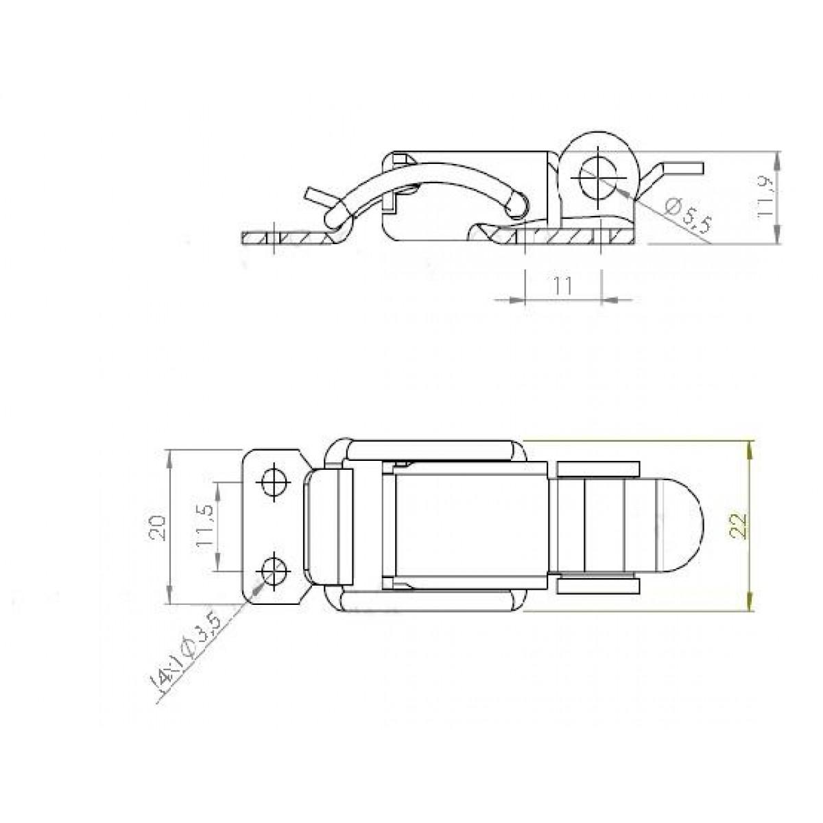 Fecho FA3/E1 Para Cases MA0094