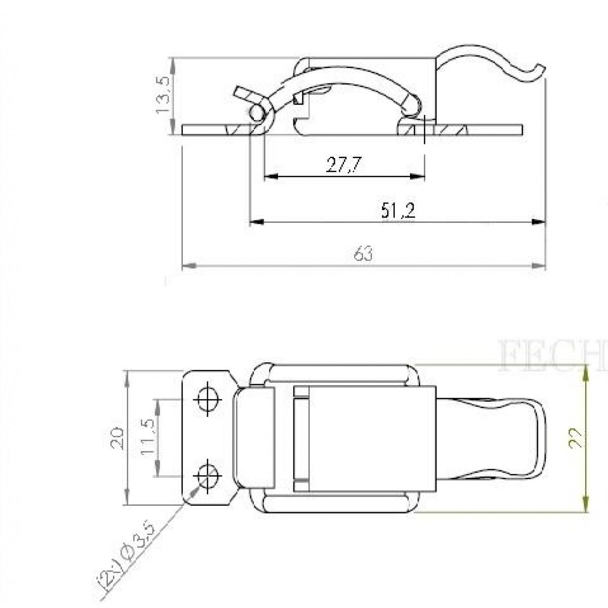 Fecho FA/E1 para cases MA0093