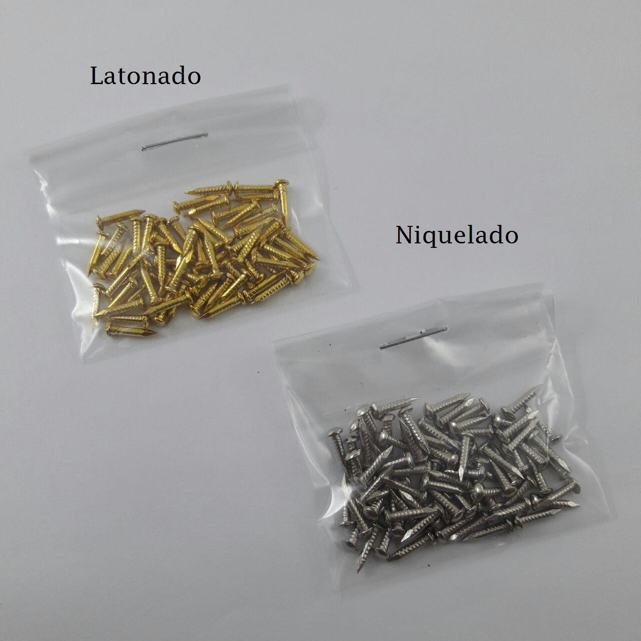 Prego Latão Polido 1,5 x 8 mm c/ 20g  MA0247