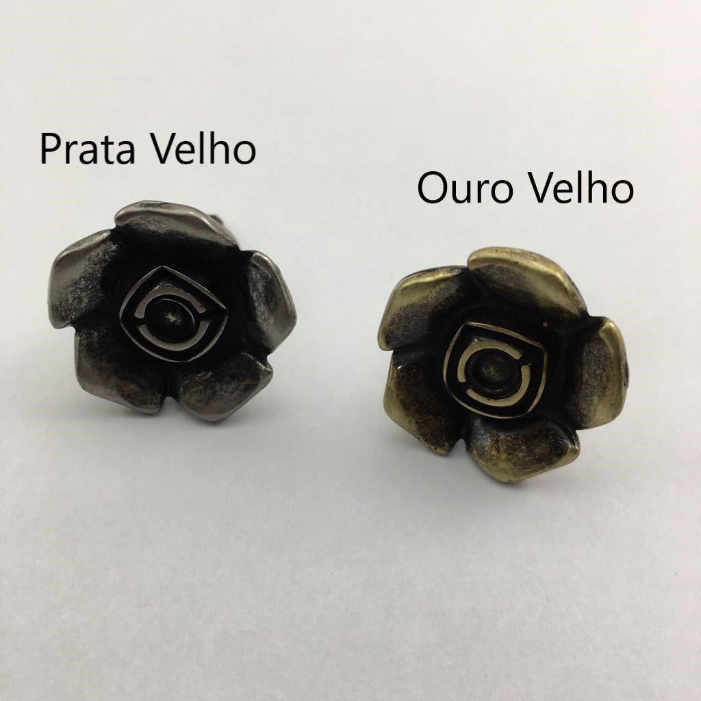 Puxador Colonial Flor c/ Parafuso MA0279