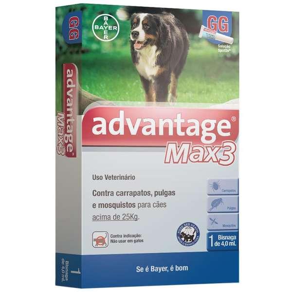 Advantage Max3 acima de 25kg com 4mL