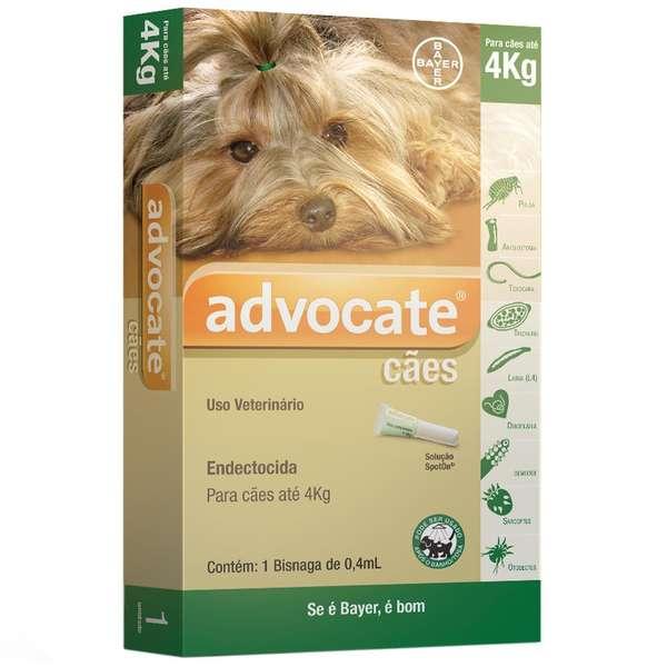 Advocate Cães até 4kg com 0,4mL