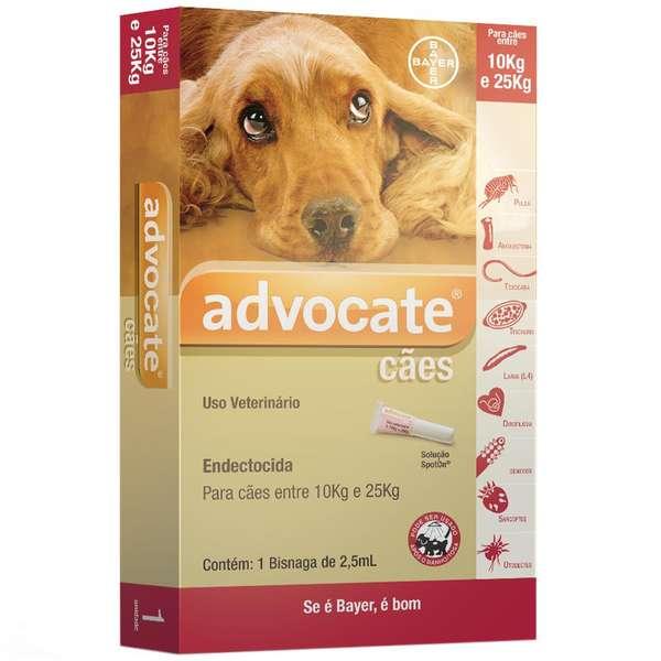 Advocate Cães de 10 a 25kg com 2,5ml