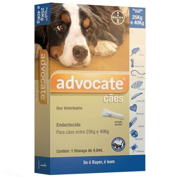 Advocate Cães de 25 a 40kg com 4ml