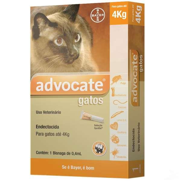 Advocate Gatos até 4 kg com 0,4 mL