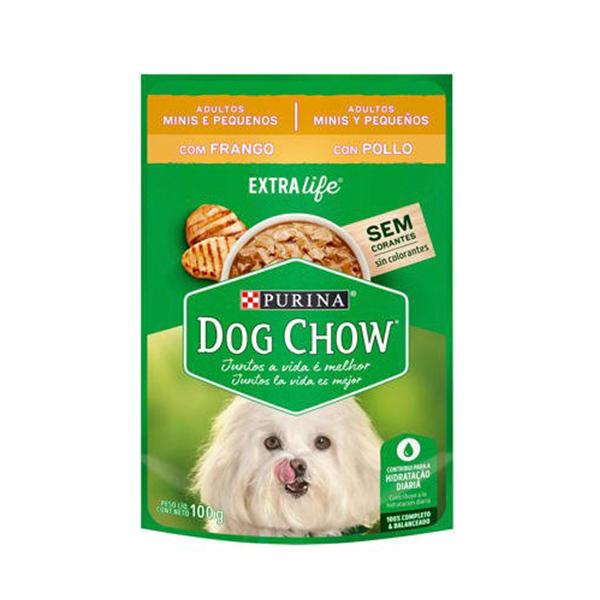 Alimento Úmido Dog Chow Cães Adultos Minis e Pequenos 100g