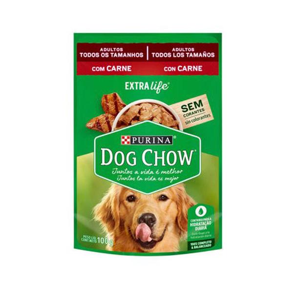 Alimento Úmido Dog Chow Cães Adultos todos os tamanhos 100g
