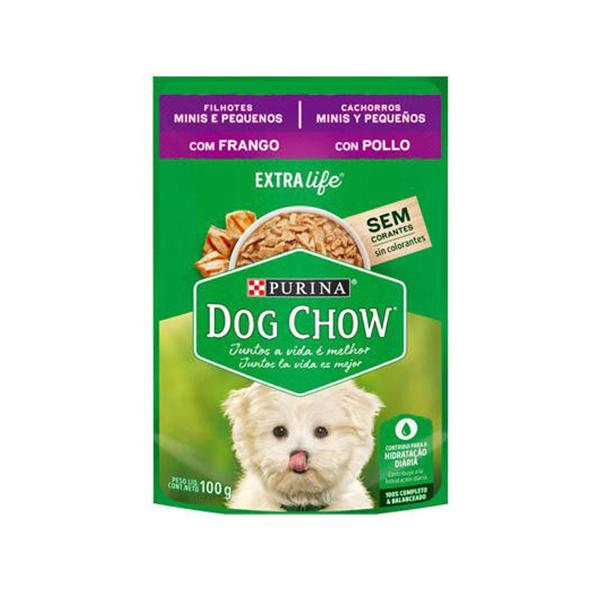 Alimento Úmido Dog Chow Filhotes Minis e Pequenos Sabor Frango 100g