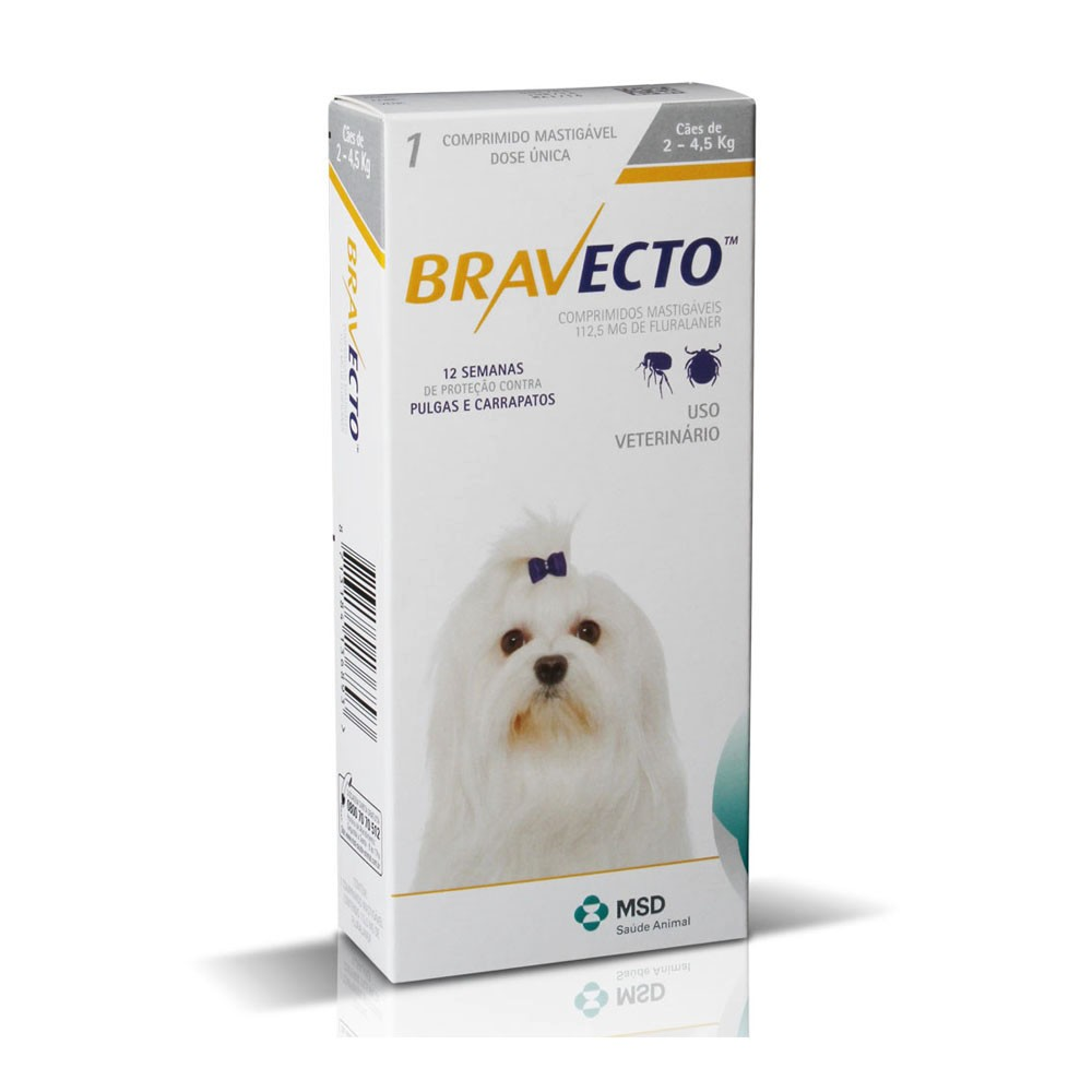 Bravecto 112,5mg para Cães  de 2 a 4,5 kg