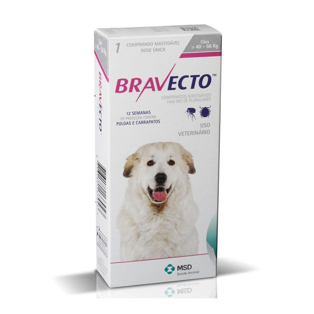 Bravecto 1400mg para Cães de 40 a 56 kg