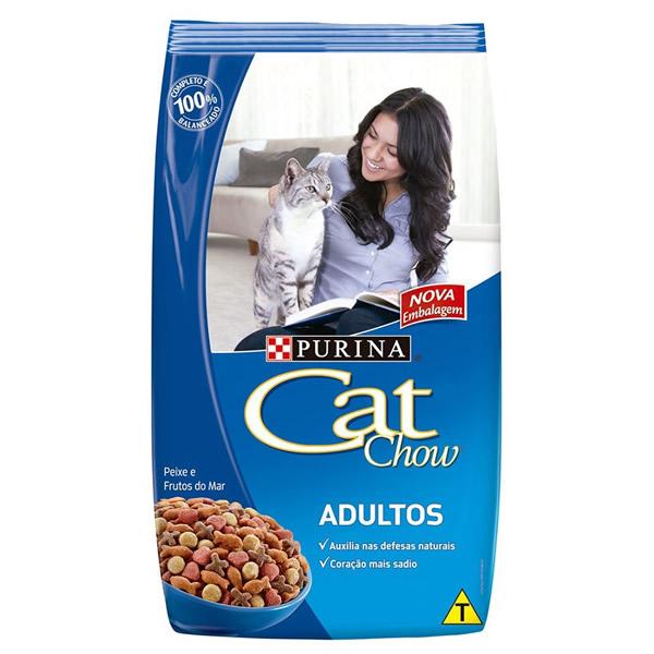 Cat Chow Adulto Peixes e Frutos do Mar