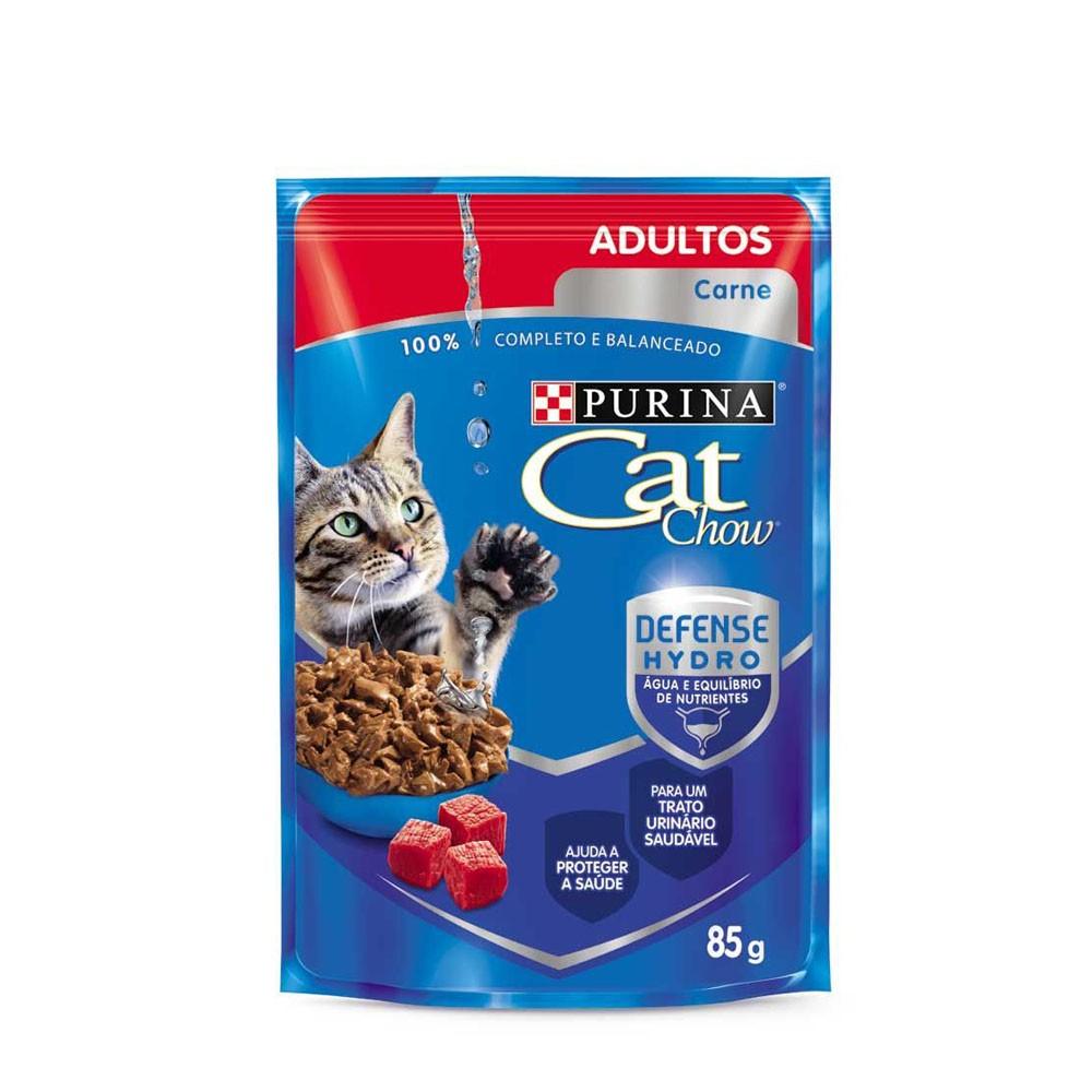 Cat Chow Adultos Sachê Carne ao Molho