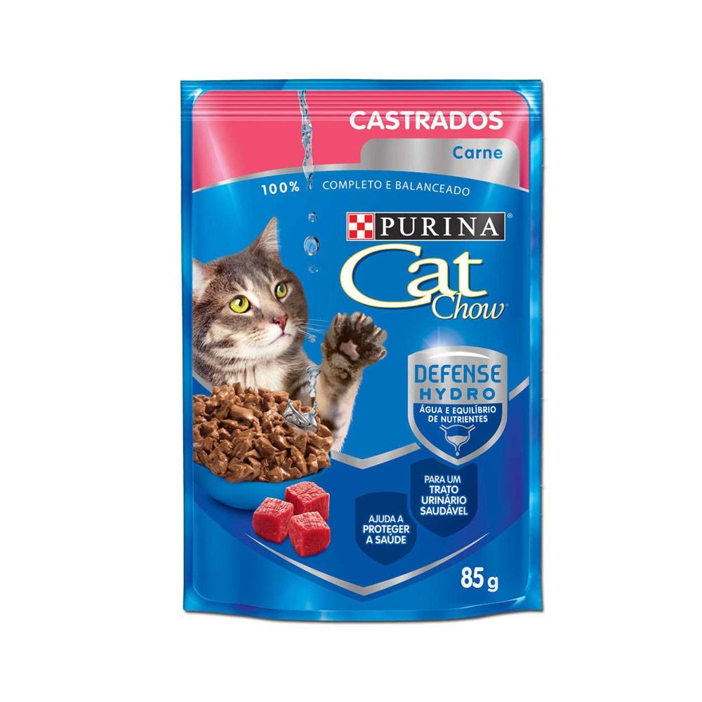 Cat Chow Castrados Sachê Carne ao Molho