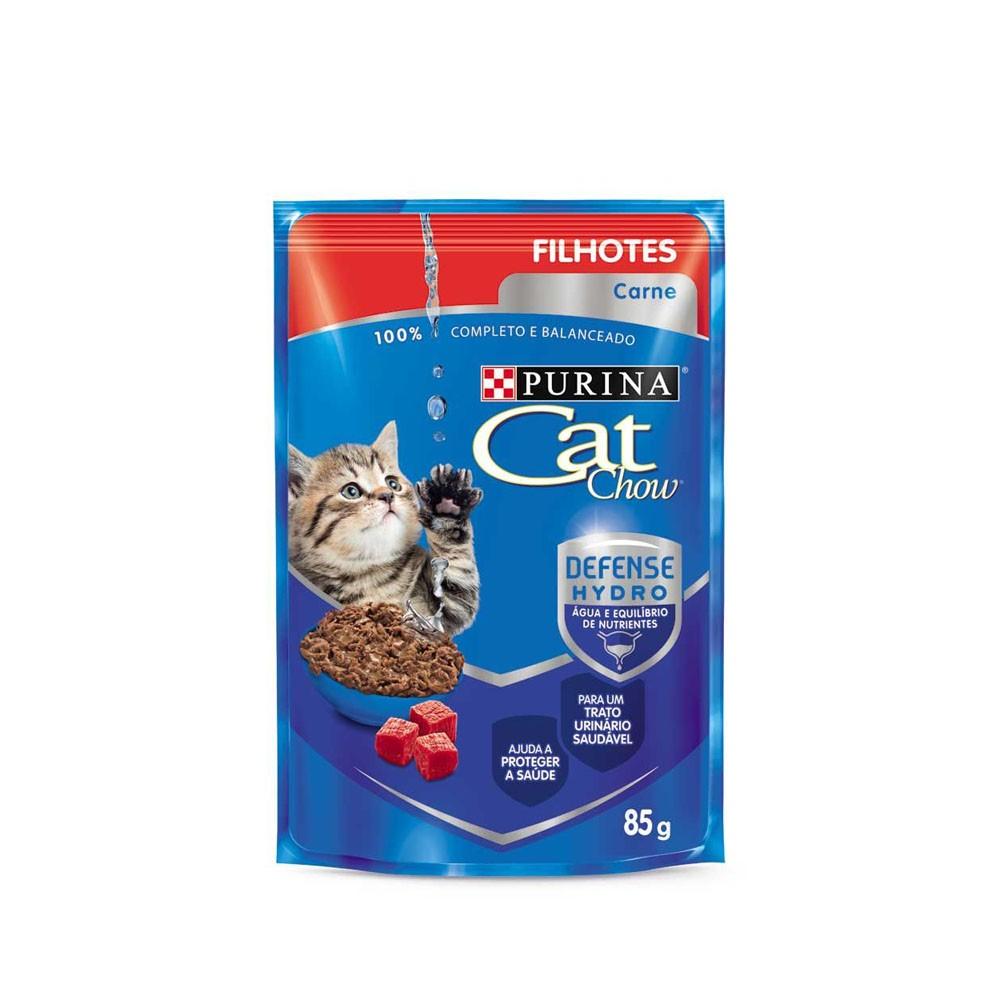 Cat Chow Filhotes Sachê Carne ao Molho