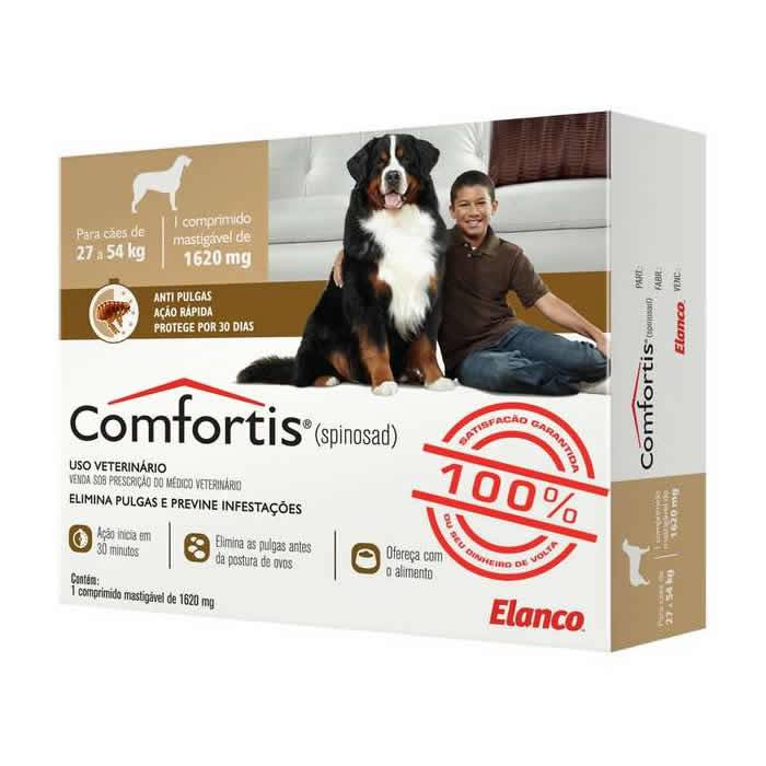 Comfortis Tablete 1620mg para Cães de 27 a 54kg