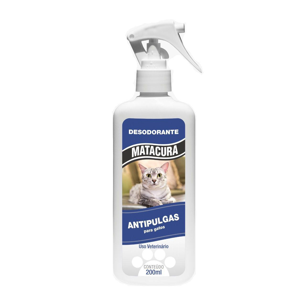 Desodorante Matacura Antipulgas Gatos