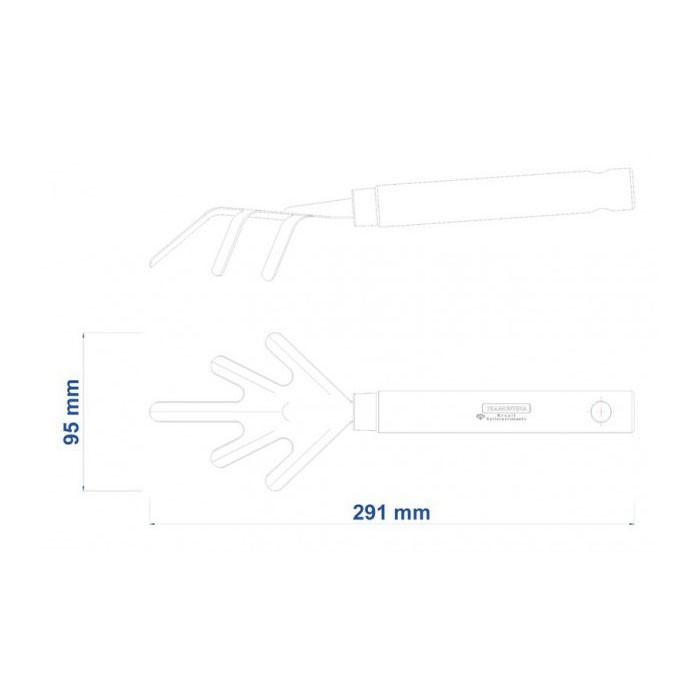 Escardilho com cabo de madeira Ref 77903/001