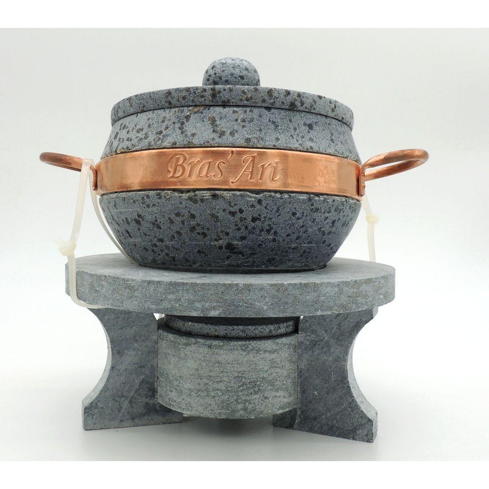Kit Fondue (Panela e Rechaud) de Pedra Sabão