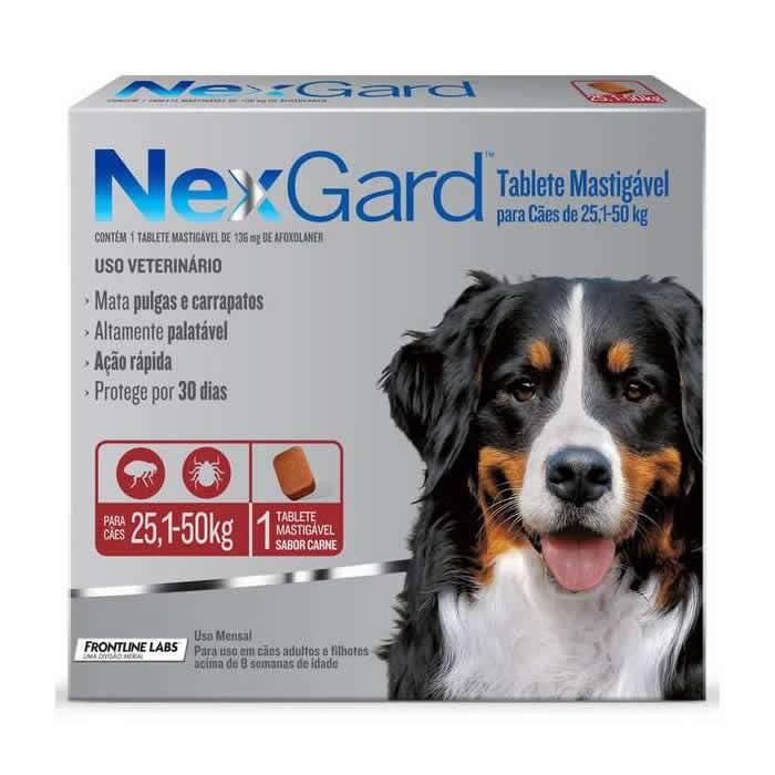 Nexgard Cães de 25,1 a 50 kg com 136mg