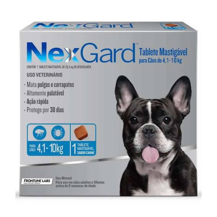 Nexgard Cães de 4,1 a 10 kg com 28,3 mg