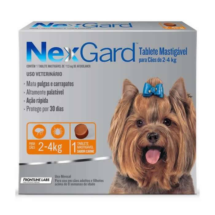 Nexgard Cães de 2 a 4 kg com 11,3 mg