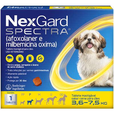 NexGard Spectra para Cães de 3,6 a 7,5 Kg