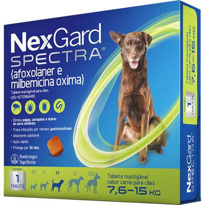 NexGard Spectra para Cães de 7,6 a 15 Kg