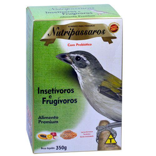 Nutripássaros Insetívoros e Frugívoros 350g