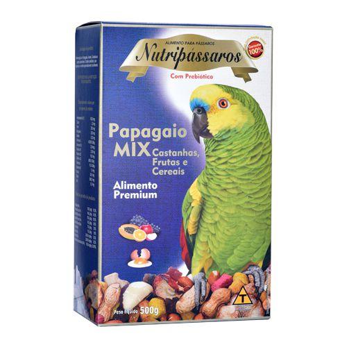 Nutripássaros Papagaio Mix com Frutas,Cereais e Castanhas 500g