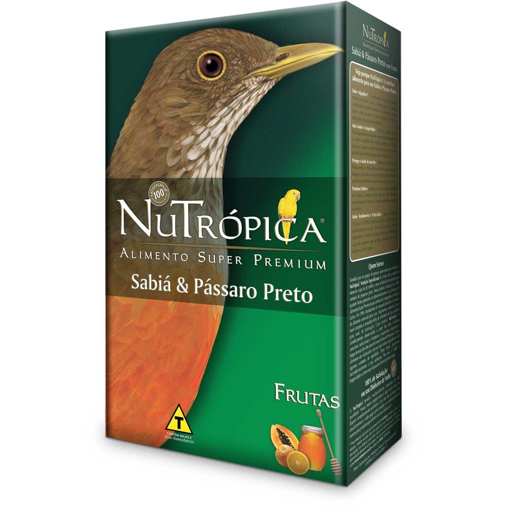 NUTRÓPICA SABIÁ E PÁSSARO PRETO COM FRUTAS 300g