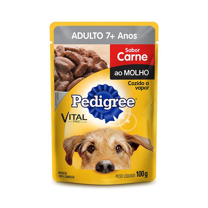 Pedigree Adulto 7+ Carne ao Molho 100g