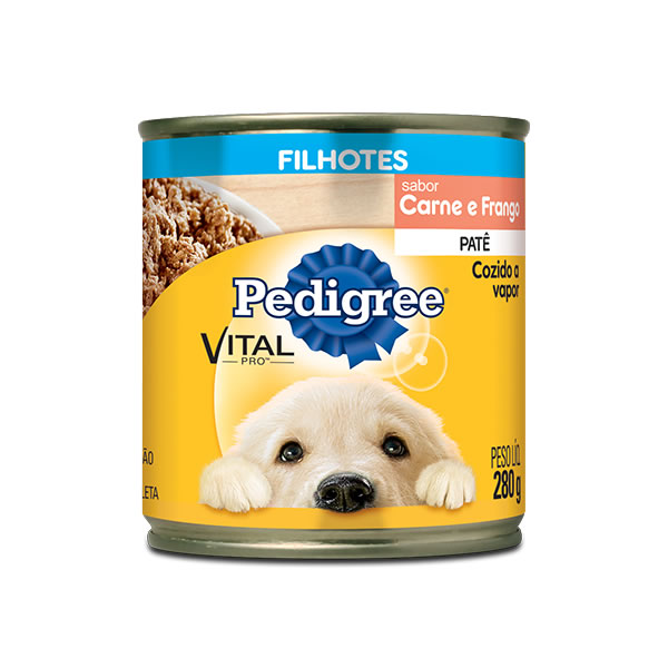 Pedigree Junior Carne e Frango Lata 280g