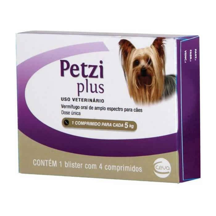 Petzi Plus 350mg Cães 5kg - 4 comprimidos