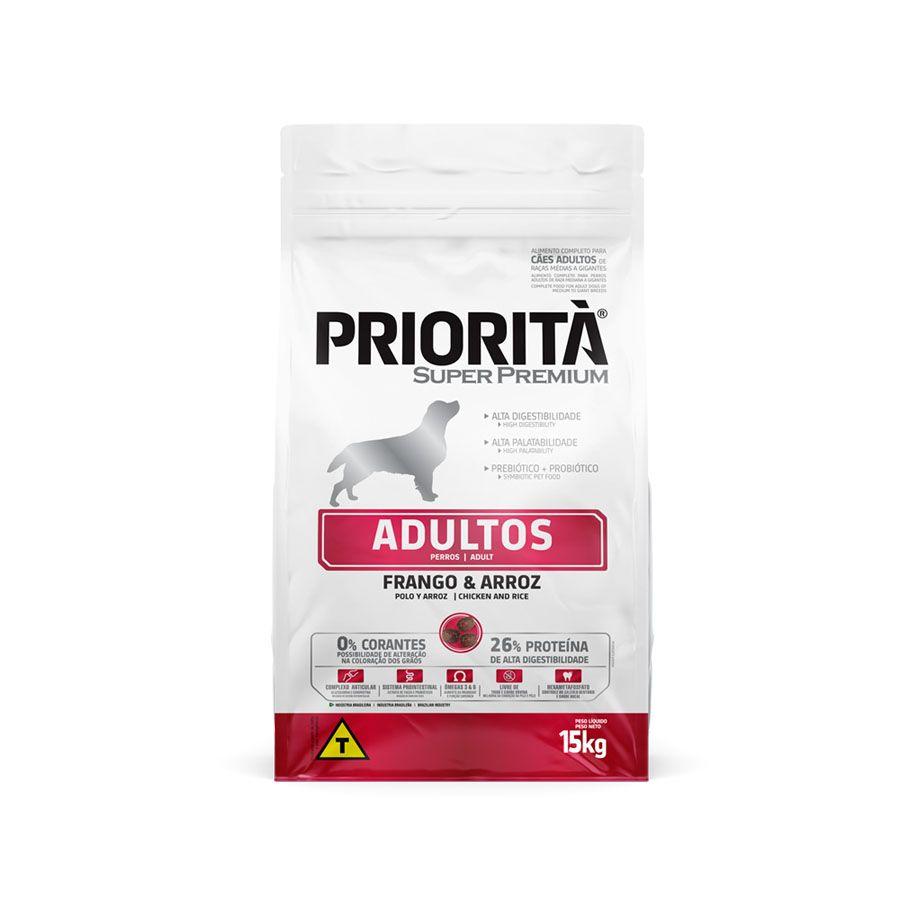 Priorità Super Premium Adultos Raças Médias a Gigantes