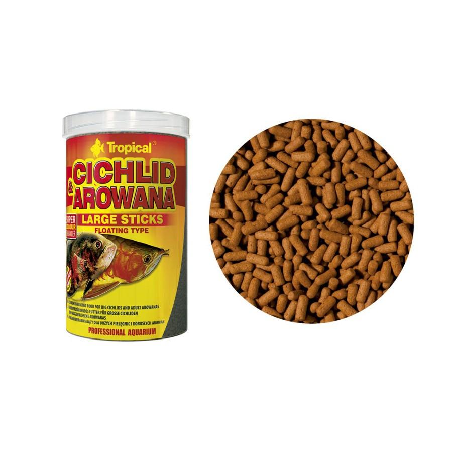 Ração Cichlid e Arowana Tropical