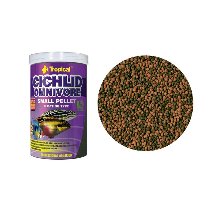 Ração Cichlid Omnivore Small Pallet Tropical