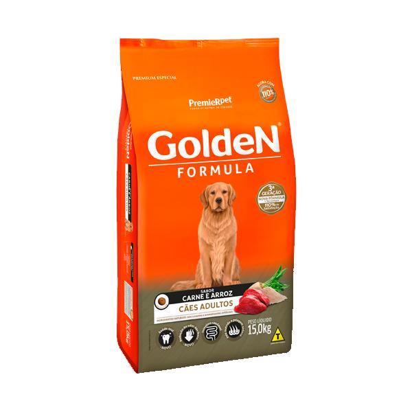 Ração Golden Formula Cães Adultos Carne & Arroz