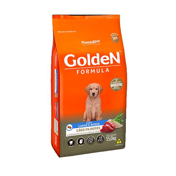 Ração Golden Formula Cães Filhotes Carne & Arroz