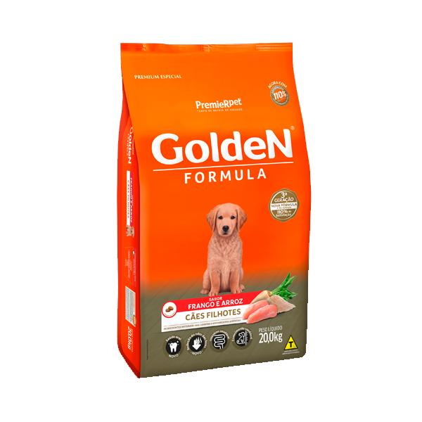 Ração Golden Formula Cães Filhotes Frango & Arroz