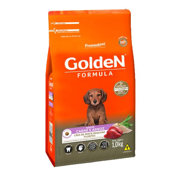 Ração Golden Formula Cães Filhotes Mini Bits Carne e Arroz