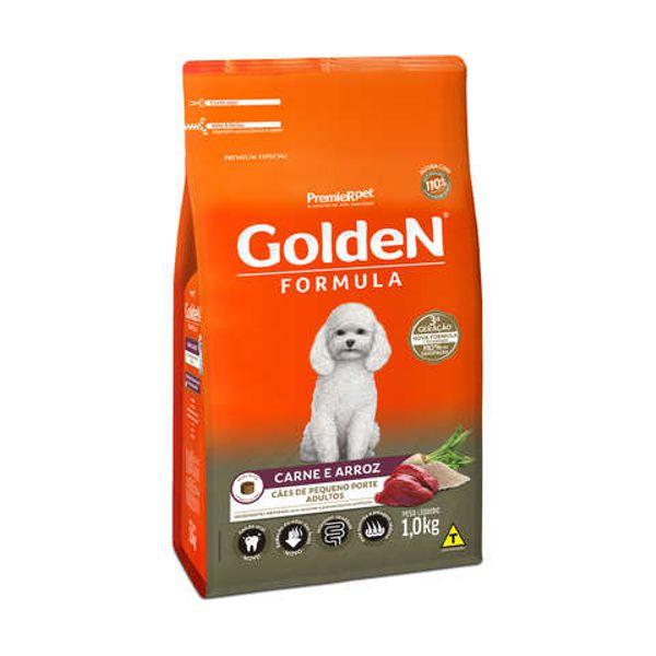 Ração Golden para Cães Adultos Mini Bits Carne e Arroz