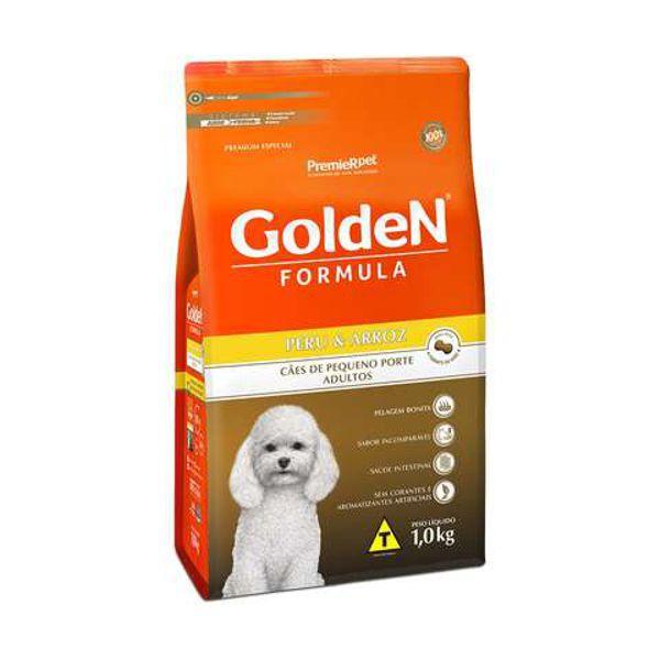 Ração Golden para Cães Adultos Mini Bits Peru e Arroz