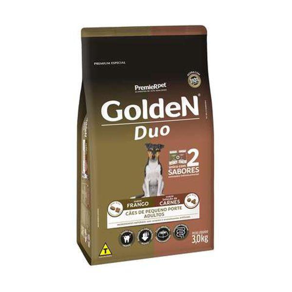 Ração Golden para Cães Adultos Pequeno Porte DUO Frango e Carne