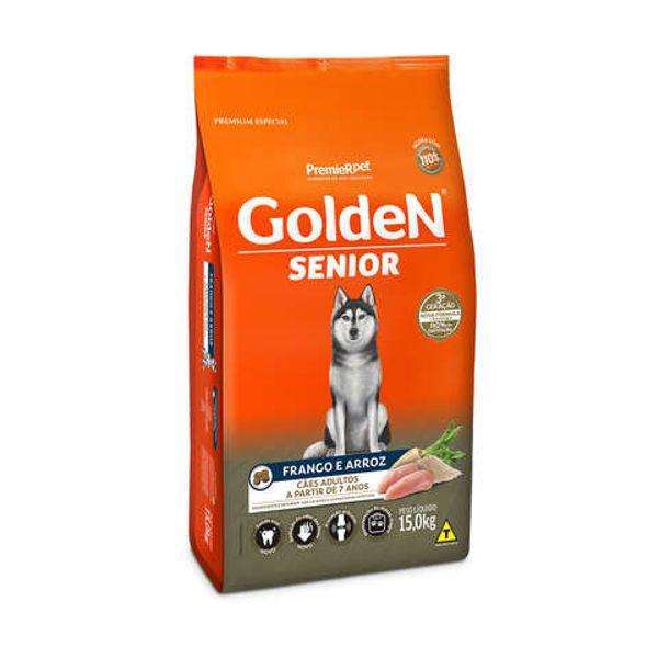 Ração Golden para Cães Adultos Sênior Frango e Arroz