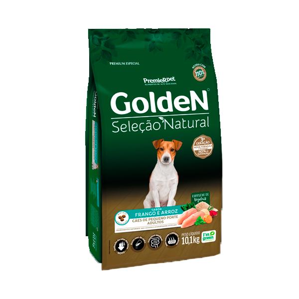 Ração Golden Seleção Natural Cães Adultos Mini Bits Sabor Frango & Arroz