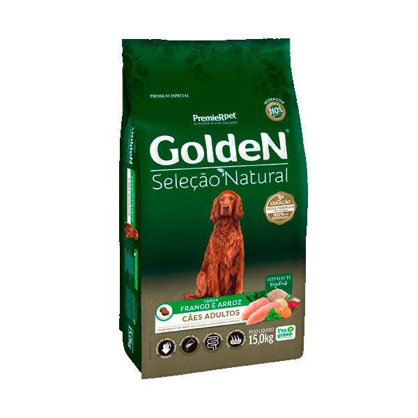 Ração Golden Seleção Natural Cães Adultos Sabor Frango & Arroz